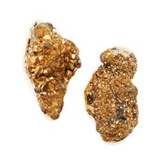 Серьги Wisteria Gems Серьги-пуссеты с друзами золотого цвета серьги шары моника бусины золотистого цвета бижутерный сплав золотого тона arrina гонконг