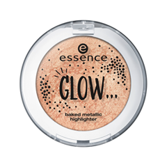 Хайлайтер essence Glow... Baked Metallic Highlighter 01 (Цвет 01 …Like Everything is All Right variant_hex_name EFC8C1) хайлайтер essence strobing highlighter stick 20 цвет 20 glow up your life variant hex name eddcc9