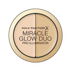 Хайлайтер Max Factor Miracle Glow Duo 10 (Цвет 10 Light variant_hex_name ECCEB2 Вес 20.00) блеск для губ colour elixir тон 45 max factor цвет lux berry