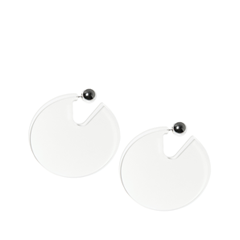 Серьги Aloud Прозрачные серьги-диски диски для калины 2 купить