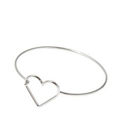Браслеты Aqua Серебристый браслет с сердцем