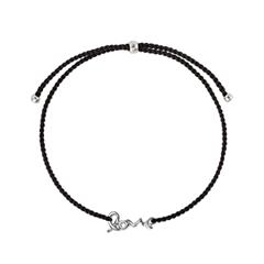 Браслеты Wanna? Be! Браслет Love на черной нити посеребренный caviar jewellery браслет true love
