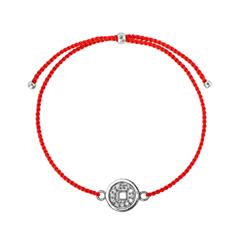 Браслеты Wanna? Be! Браслет Монетка на красной нити посеребреный с цирконами браслеты exclaim легкий браслет цепочка с миниатюрными цирконами