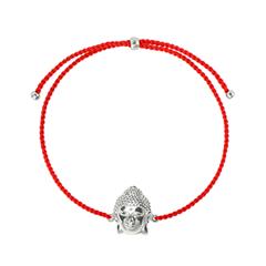Браслеты Wanna? Be! Браслет-нить Будда на красной нити посеребренный ювелирные браслеты amorem компас синяя нить