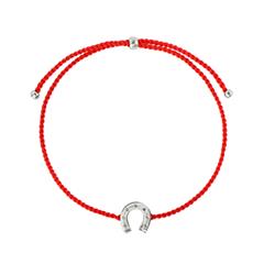 Браслеты Wanna? Be! Браслет Подкова на красной нити посеребренный strand браслеты браслет браслет малы природа мода браслеты коричневый назначение особые случаи подарок