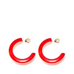 Серьги Aloud Красные серьги-полукруги