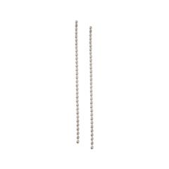 Серьги Aqua Серебристые серьги с длинными цепочками из звеньев