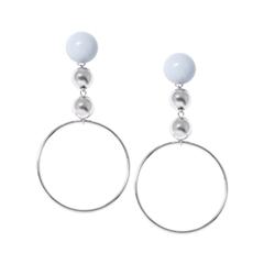 Серьги Aqua Серьги-кольца с голубыми шарами