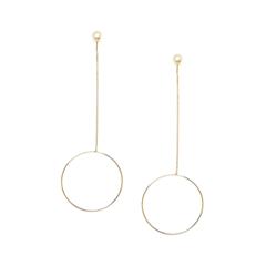 Серьги Aqua Золотистые серьги-кольца с жемчугом