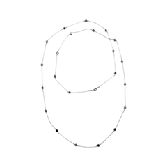 Колье Herald Percy Сотуар с черными кристаллами moon колье с кристаллами и стразами в позолоте mv 1511 018