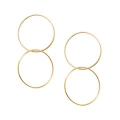 Серьги Lisa Smith Двойные золотистые серьги Hoop