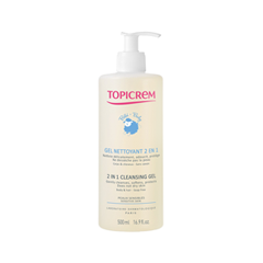 Гель Topicrem 2 In 1 Cleansing Gel (Объем 500 мл) гель dr sea mineral cleansing gel facial and eyes area 3 in 1 210 мл