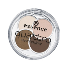 Тени для век essence Quattro Eyeshadow (Цвет 05 todie for variant_hex_name 6B494A)