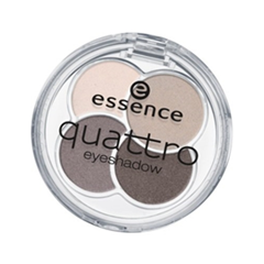 Тени для век essence Quattro Eyeshadow (Цвет  07 over the taupe variant_hex_name 483E40) тени для век essence live laugh celebrate eyeshadow 07 цвет 07 the sun is shining variant hex name d6ac7a