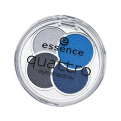 Тени для век essence Quattro Eyeshadow (Цвет 09 denim variant_hex_name 1D6DB6)