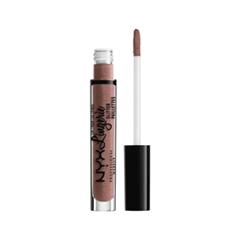 Блеск для губ NYX Professional Makeup Lip Lingerie Glitter 06 (Цвет 06 Butter variant_hex_name B38D86)