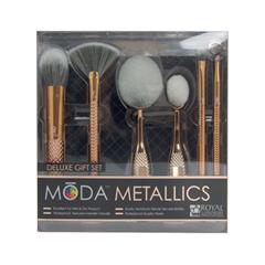 Набор кистей для макияжа Royal & Langnickel MŌDA® Metallics 6pc Deluxe Gift Kit щетка кисть для лица angels and demons
