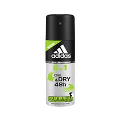 Дезодорант Adidas Cool & Dry 6-in-1 Anti-Perspirant Deodorant Spray 48h (Объем 150 мл)