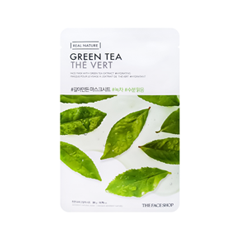 Тканевая маска The Face Shop Real Nature Green Tea Face Mask (Объем 20 г) 20 мл