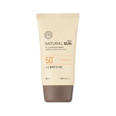 Защита от солнца The Face Shop Natural Sun Eco Oil Clear Sun Cream SPF50+PA+++ (Объем 50 мл) защита от солнца the skin house крем uv protection sun block spf50 pa объем 60 мл