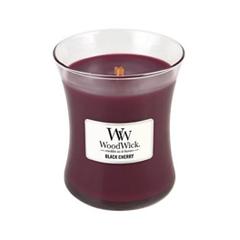 Ароматическая свеча Woodwick Black Cherry Medium Jar Candle (Объем 275 г) 275 мл bamboo jar