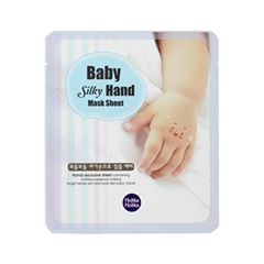 Маска Holika Holika Маска для рук Baby Silky Hand Mask Sheet (Объем 18 мл*2) ночная маска holika holika wine therapy sleeping mask red wine объем 120 мл