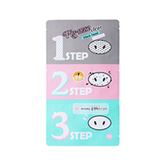 Патчи для носа Holika Holika Pignose Clear Black Head 3 Step Kit