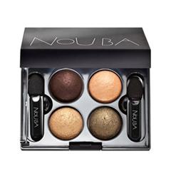 Тени для век NoUBA Quattro Eyeshadows 628 (Цвет 628 variant_hex_name 6A453D)