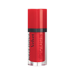 Жидкая помада Bourjois Rouge Edition Velvet 03 (Цвет 03 Hot Pepper variant_hex_name CA091C Вес 10.00) жидкая помада by terry terrybly velvet rouge 2 цвет 2 cappuccino pause variant hex name c78685