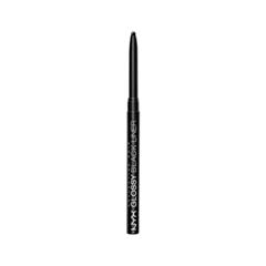 Карандаш для глаз NYX Professional Makeup Glossy Black Liner (Цвет BEL01 Noir variant_hex_name 000000)