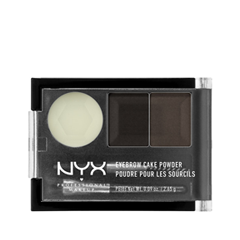 цена на Тени для бровей NYX Professional Makeup Eyebrow Cake Powder 01 (Цвет 01 Black/Gray variant_hex_name 605C5B)