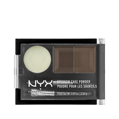 Тени для бровей NYX Professional Makeup Eyebrow Cake Powder 02 (Цвет 02 Dark Brown/Brown variant_hex_name 534844) bob cosmetic makeup powder w puff mirror dark brown 04