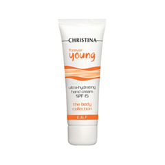Крем Christina Forever Young Ultra-Hydrating Hand Cream SPF 15 (Объем 75 мл) christina омолаживающий дневной крем для зоны глаз forever young rejuvenating day eye cream spf15 30 мл