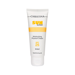 Защита от солнца Christina Крем SunScreen Moisturizing Cream With Vitamin E Physical SPF25 Tinted (Объем 75 мл)