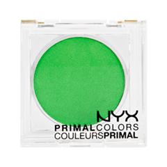 Тени для век NYX Professional Makeup Прессованные пигменты Primal Colors Face Powder 08 (Цвет 08 Hot Green variant_hex_name 3DBA43)