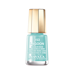 Лак для ногтей Mavala Creamy Mini Color's 153 (Цвет 153 Lagoon variant_hex_name 8CCAC9) лак для ногтей mavala metropolitan color s collection 353 цвет 353 gold bronze variant hex name 9b5230