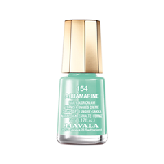 Лак для ногтей Mavala Creamy Mini Color's 154 (Цвет 154 Aquamarine variant_hex_name 8BCAB5) лак для ногтей mavala creamy mini color s 308 цвет 308 alpine green variant hex name 3f6c60