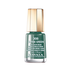 Лак для ногтей Mavala Creamy Mini Color's 308 (Цвет 308 Alpine Green variant_hex_name 3F6C60) mavala тушь кремовая коричневый mavala mascara creamy brun 9094622 10 мл
