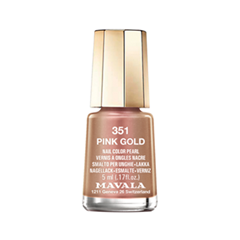 Лак для ногтей Mavala Metropolitan Colors Collection 351 (Цвет 351 Pink Gold variant_hex_name CA8D7E)