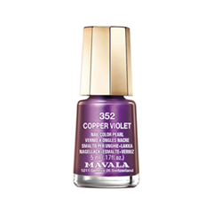 Лак для ногтей Mavala Metropolitan Colors Collection 352 (Цвет 352 Copper Violet variant_hex_name 782D81)