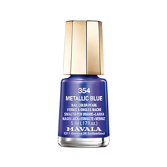 Лак для ногтей Mavala Metropolitan Color's Collection 354 (Цвет 354 Metallic Blue variant_hex_name 7565A5) лак для ногтей mavala sublime collection 312 цвет 312 poetic rose variant hex name af4a53