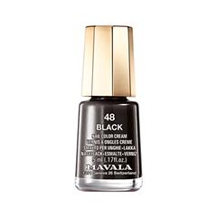 Лак для ногтей Mavala Creamy Mini Colors 048 (Цвет 048 Black variant_hex_name 0F0704)