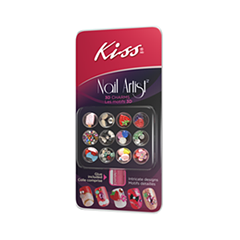 Дизайн ногтей Kiss Набор стикеров из страз Nail Artist 3D Charms forum novelties тату из страз kiss