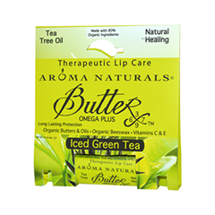 Бальзам для губ Aroma Naturals Бальзам Iced Green Tea - Therapeutic Lip Care (Объем 4 г)