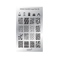 цена на Дизайн ногтей Konad Пластина для стемпинга Square Image Plate 08