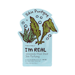 Тканевая маска Tony Moly I'm Real Seaweeds Mask Sheet (Объем 21 мл) tony moly sheet gel mask pureness 100 collagen маска тканевая с экстрактом коллагена 21 мл