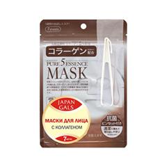 Тканевая маска Japan Gals Набор масок с коллагеном Pure 5 Essential 7 шт.
