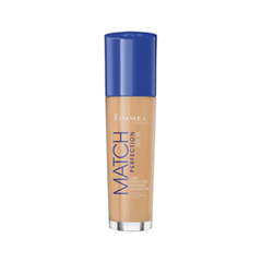 Тональная основа Rimmel Match Perfection 203 (Цвет 203 True Beige variant_hex_name E6A580) rimmel rimmel тональный крем match perfection 200