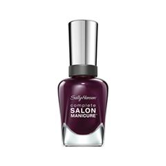 Лак для ногтей Sally Hansen Complete Salon Manicure™ 660 (Цвет 660 Pat On The Black variant_hex_name 4D223B) лаки для ногтей sally hansen лак для ногтей sally hansen salon manicure тон 554