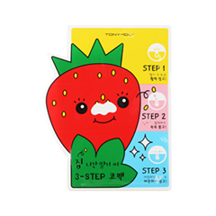 Патчи для носа Tony Moly Homeless Strawberry Seeds 3-step Nose Pack